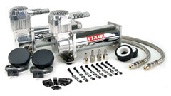 Dual 444C Chrome Air Compressor Kit Photo
