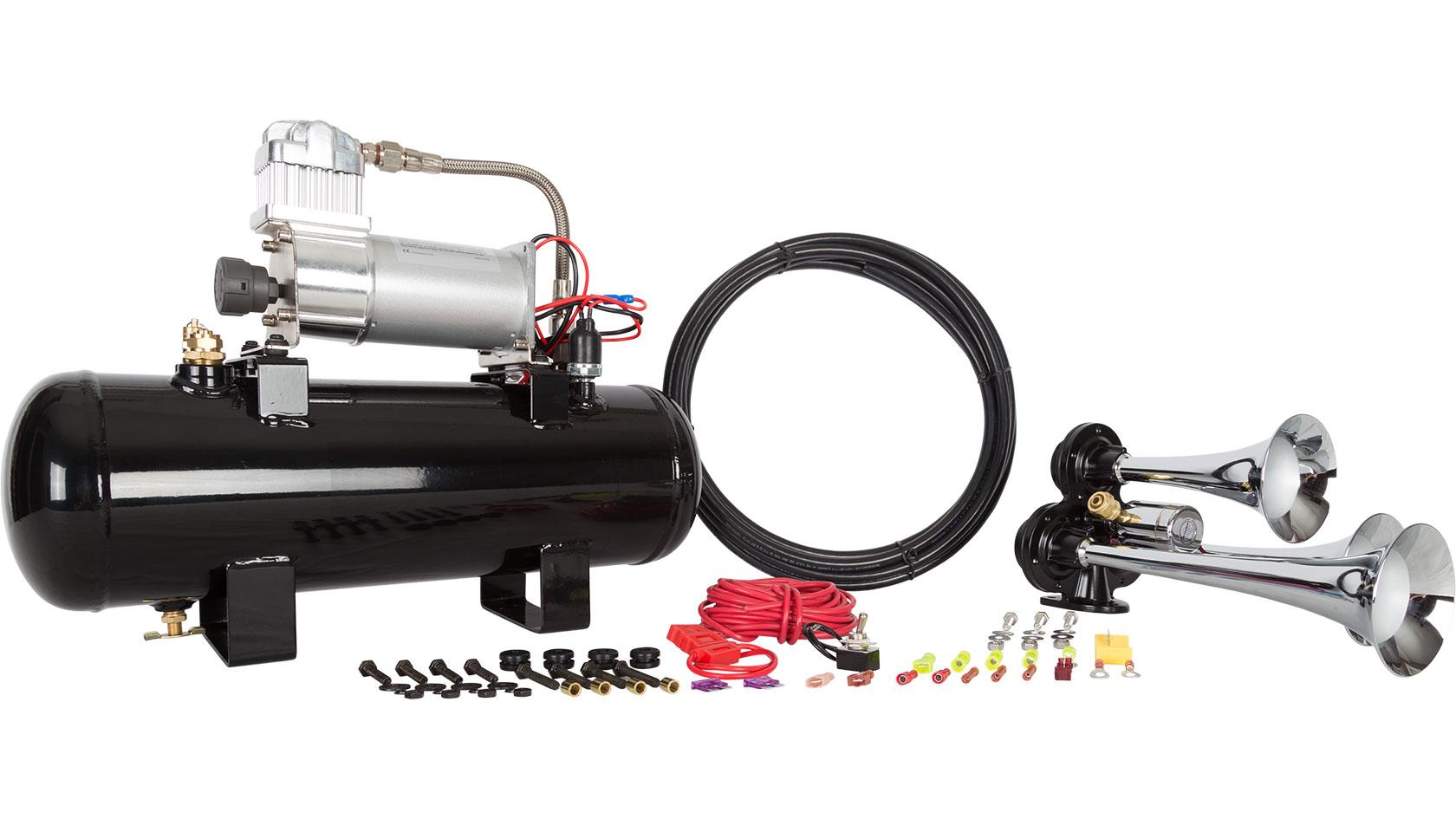 hornblasters jackass 228v air horn kit