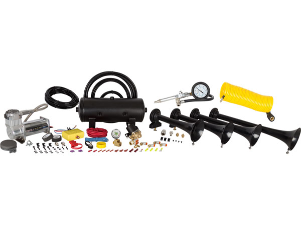 Conductor's Special 238A Train Horn Kit with Coil Hose and Tire Inflation Gun